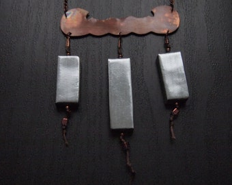 copper form and zinc things necklace