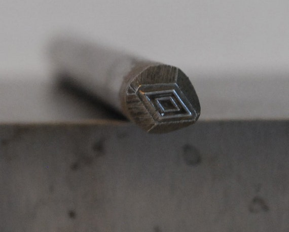 Double diamond design stamp 5 mm steel stamps metal stamping for Diamond stamp on jewelry