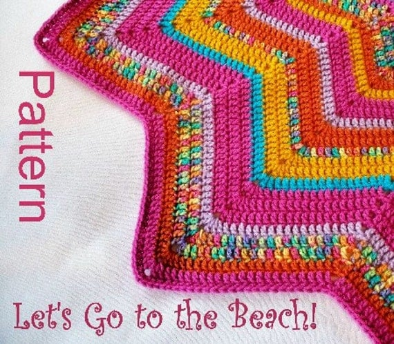 Pdf Pattern Crocheted 12 Pointed Star Blanket Let S Go To