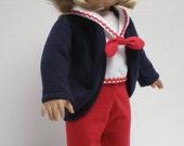 LONG NAVY SHRUG Cardigan 18 inch doll clothes