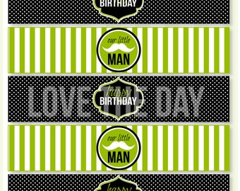 Little Man Party PRINTABLE Drink Labels (INSTANT DOWNLOAD) by Love The Day
