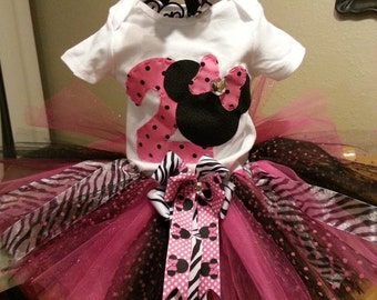 Minnie Mouse Birthday Outfit....Minnie Mouse shirt and Minnie Tutu