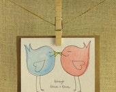 Handmade Through Thick and Thin Bird Card