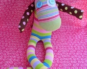 OOAK hand made recycled stuffed animal unicorn lullah mae