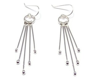 Sterling Silver Jewelry, Sterling Silver Earrings, Silver Earrings, Rain Drop Earrings Dangle Earrings