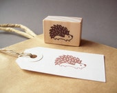 Hedgehog Rubber Stamp , Woodland Autumn Fall Forest Stamp