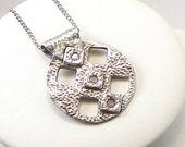 Silver Contemporary Necklace, Cubic Zirconia, Eco Friendly