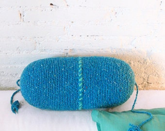 Pillow Crochet Marrakech  -  blue