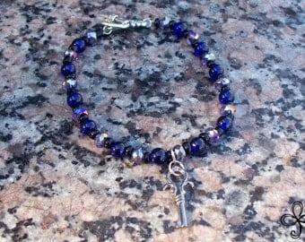 Night Blue Key Bracelet