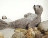 Needle Felted Scottish Seal, Gift, sea  Nature Scene Decoration, Waldorf Art