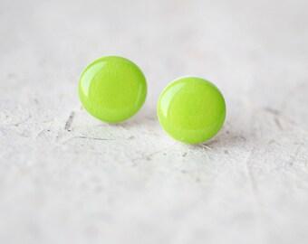 Lime Green Stud Earrings - BUY 2 GET 1 FREE
