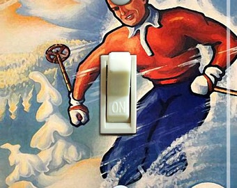 OSLO Vintage Ski Poster Switch Plate (single)  ***FREE SHIPPING***