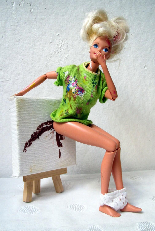 Present To Ken 12x18 Eco Paper Print Barbie Art Geekery