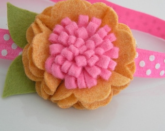 Baby Felt Headband, Felt Flower Headband, Baby Headband, Baby Girl Headband, Headbands, Couture Headband, Little Diva Boutique, NO.14-12