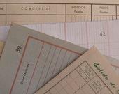10 LEDGER PAPER PACK - Vintage Big Ephemera set