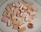 Vintage Mosaic tile, 150 Peach mosaic tiles, Italian stone tile, mural mosaic tile, church mosaic,