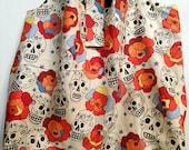 Big ToteRoll Reusable Grocery / All Purpose Tote Bag - Folklorico Sugar Skulls