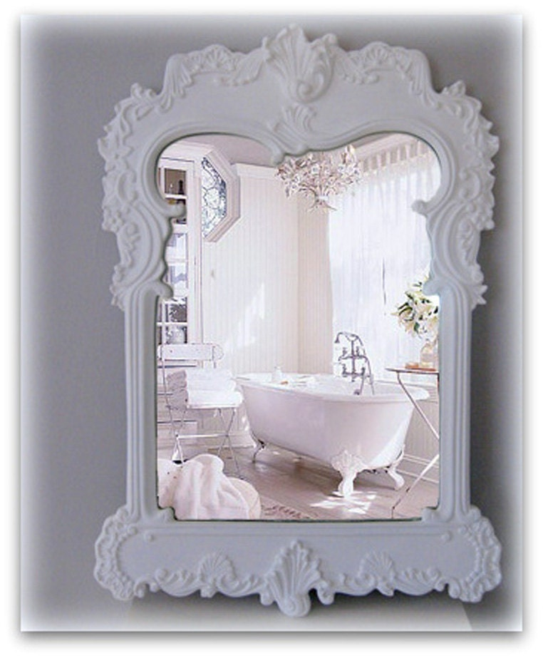 White Mirror Shabby Chic 28 Images Carved