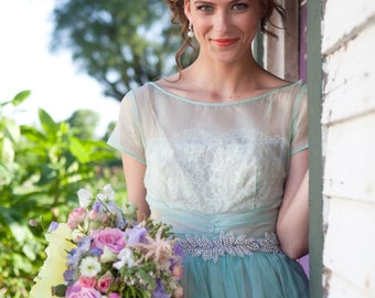 Wedding Headband, Tiara, Bridal Headpiece, Bridal Accessory, Pearl Headband, Altered Couture, Off White, Light Ivory