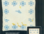CANDLEWICKING Silkscreened Stencilled Pillow COUNTRY GEESE Dimensions Kit circa 1983