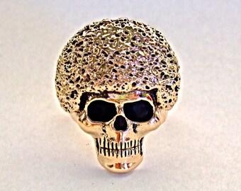 """SUPER """"G""""  AFRO Skull Ring"""