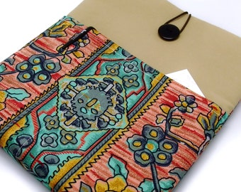 SALE - iPad Air case, iPad cover, iPad sleeve/ Samsung Galaxy Tab 3 10.1with 2 pockets, PADDED - Vintage pattern
