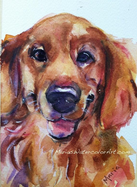 Golden Retriever Watercolor Painting