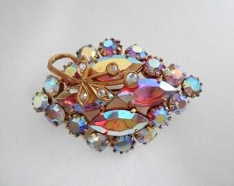 Vintage brooch, 1950s AB brooch,Julianna D& E style  brooch, vintage jewelry, antique jewelry, vintage jewellery