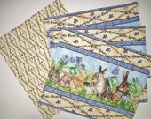Bunny Place Mats Quilted Set of 4