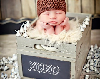 Newborn Photo Prop Baby Kiss Hat