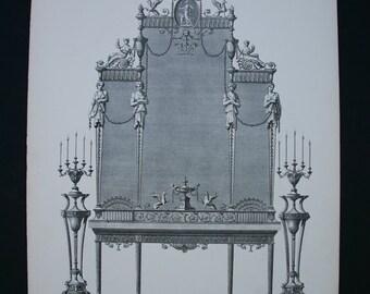 Rare British architectural print by Robert Adam 1900
