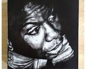 Nina Simone - original clay board etching