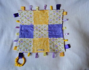 Purple and Yellow Daisey Taggie Blankie