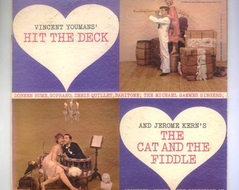 Doreen Hume and Denis QuilleySelections from Youman's Hit the Deck and Kern's The Cat and the Fiddle Vintage Vinyl Record Album Epic LP