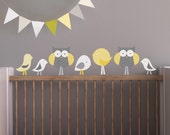 Nursery Wall Decal, Kids Wall Decal. Birds and Owls Children Wall Decal