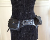 Custom BAT Vegan Upcycled Recycled Rubber Inner Tube Festival Pocket Belt Utility Burning Man Eco Mad Max Goth Motorcycle halloween pirate