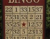 Primitive Wood Bingo Game Board Folk Art Gameboard