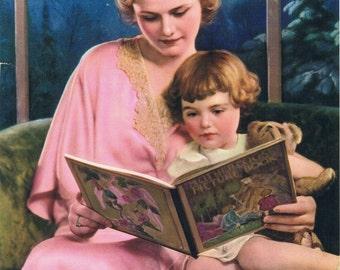 Reading Mother Goose Calendar Art Print