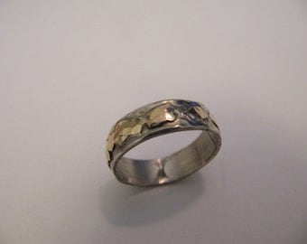 Amazing Silver Gold Ring