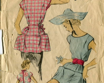 Advance 5998 Vintage Apron Romper Coverup Sewing Pattern