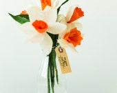Paper daffodils bouquets (set of 9)
