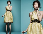Spring Brocade and Lace Dress