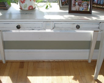 Desk, foyer table, white, shabby chic, FREE SHIPPING