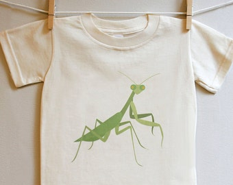 Kid's t-shirt, praying mantis toddler t-shirt, kids tee, praying mantis t-shirt sizes 2T - 5T