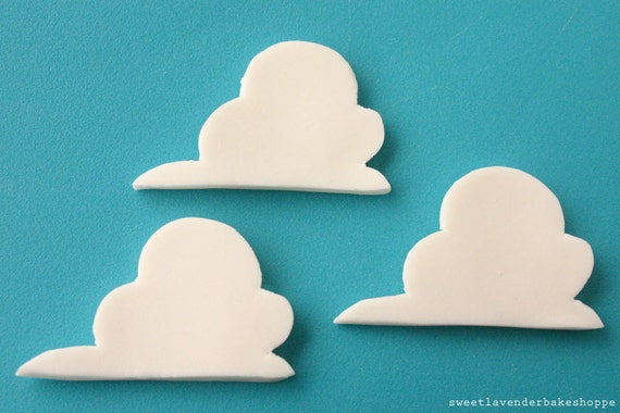 Items Similar To Edible Cloud Cake Decorations On Etsy