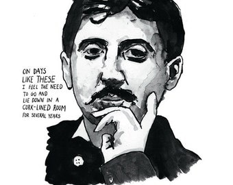 Marcel Proust Literary Poster Print Great Writers Series
