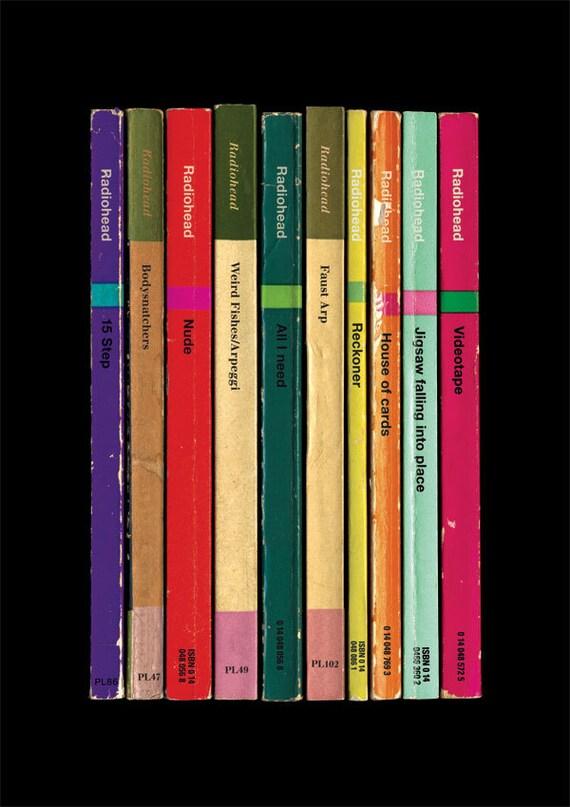 Radiohead 'In Rainbows' Album As Books Poster Print