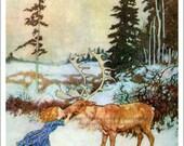 Reindeer Girl Print - Hans Christian Andersen Fairy Tale