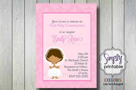 Printable First Holy Communion Invite