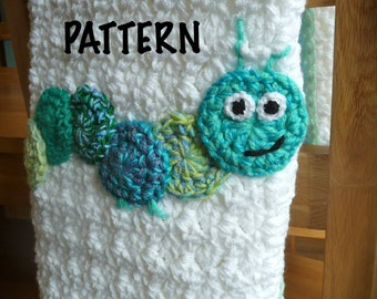 Crochet Caterpillar Baby Outfit Pattern : Crochet Caterpillar Baby Blanket by CraftyRedman on Etsy